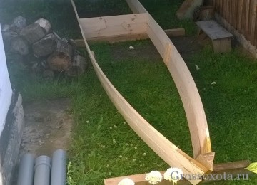 Вариант деревянной  лодки под мотор